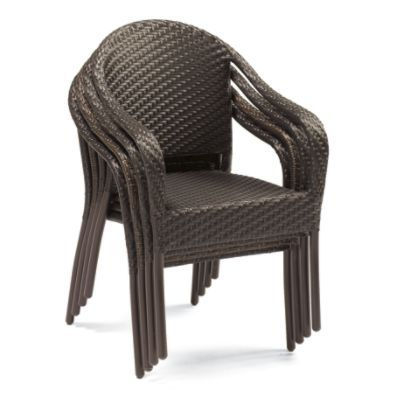 Cafe Curved Back Stacking Chairs Set Of Four Dining