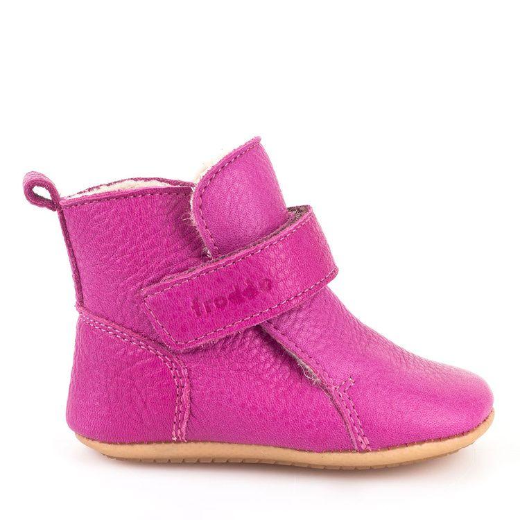 f1651760a6db8 FRODDO barefoot topánky Prewalkers zateplené, ružové - FRODDO ...