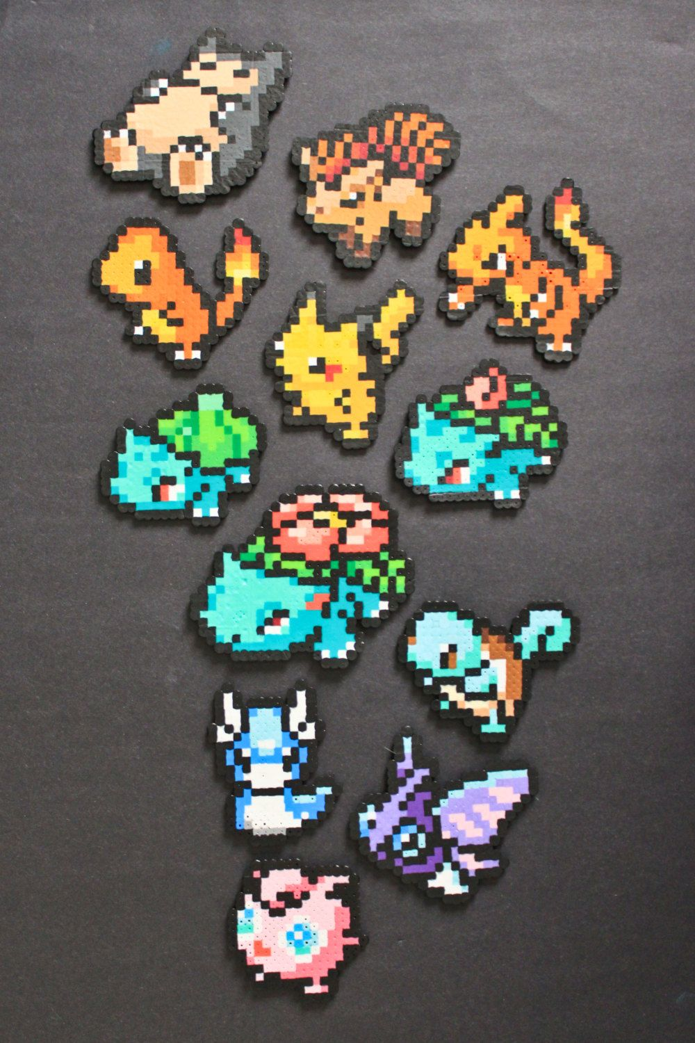 Pokemon Perler Bead Pixel Art Magnets Gold Bügelperlen