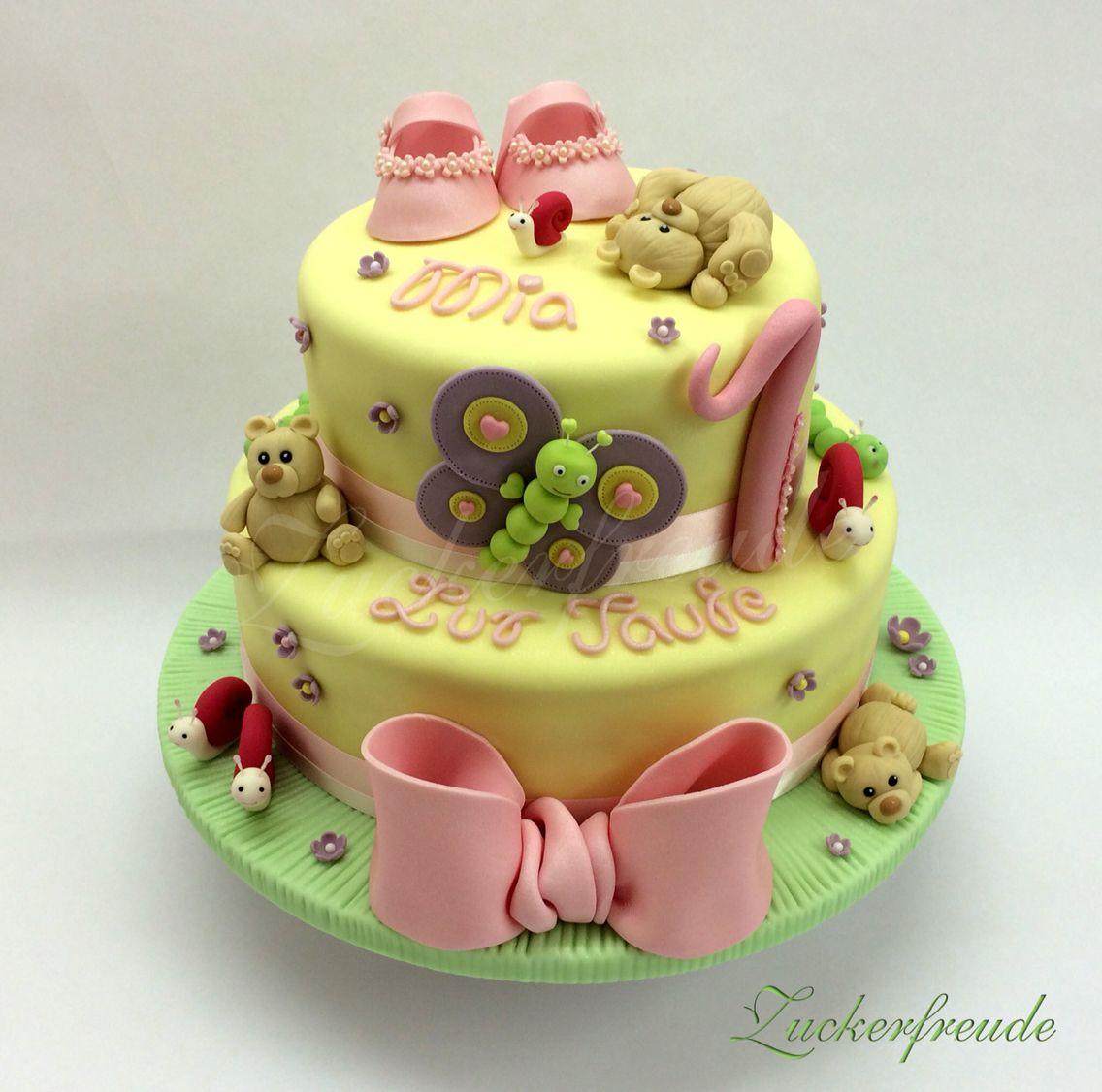 Geburtstagstorte, Babyschuhe, Schmetterling, Teddybär, Schnecke, Taufe, Schleife
