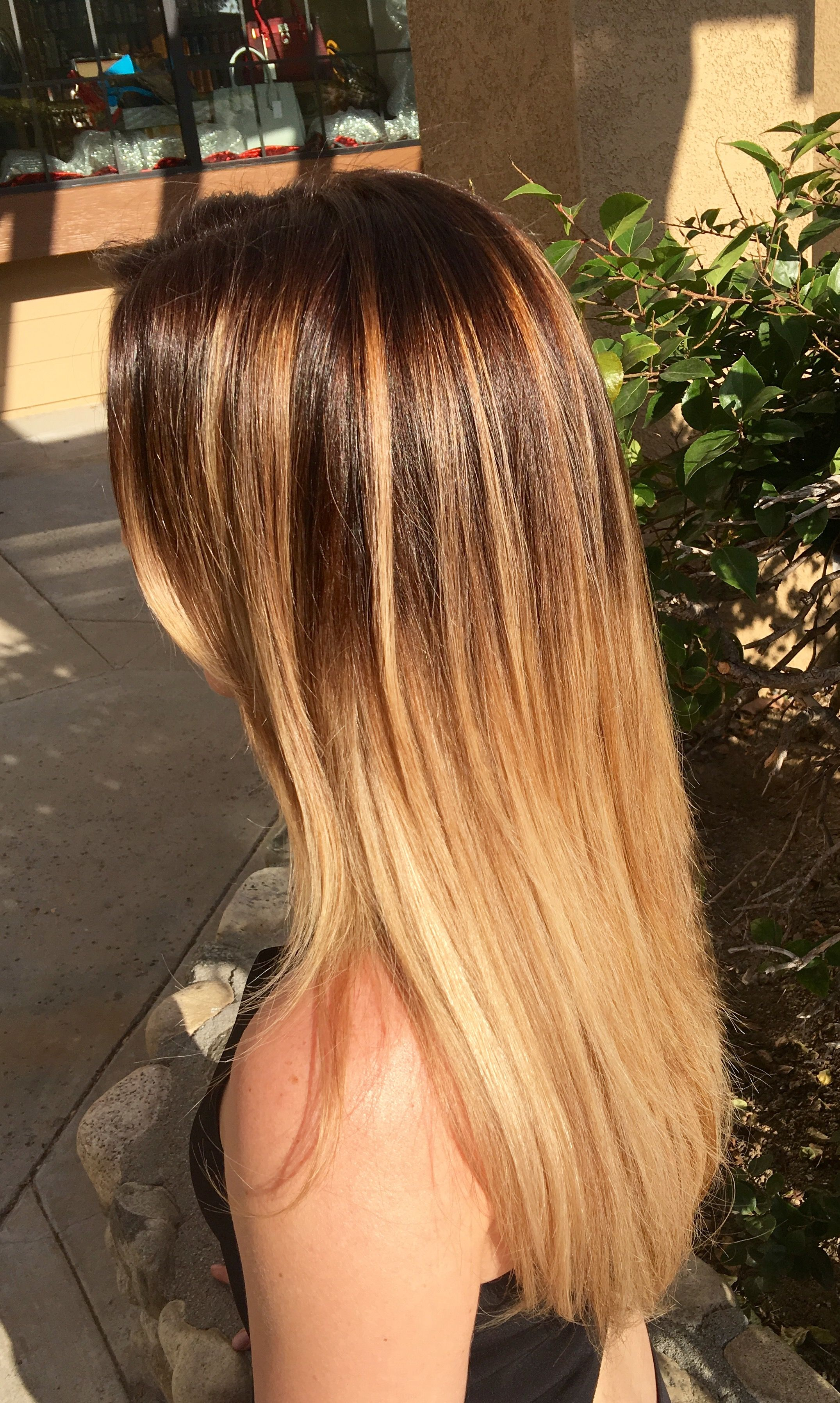 Photographing Hair Color Drastically Changes The Look With Late Afternoon Sun My Cool Toned Level 4 Ombre Takes On A Gold Glow Hair Hair Styles Hair Color