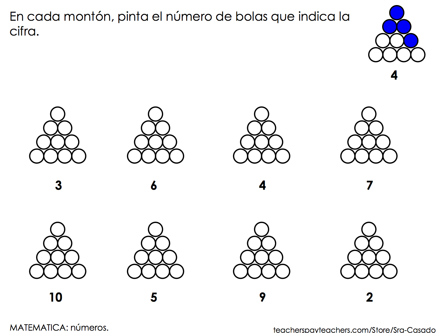 Shapes Numbers And Follow Directions Spanish
