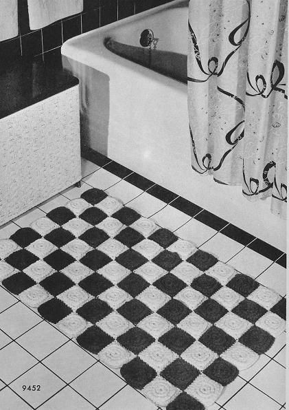 Checkerboard Crochet Rug Pattern Definitely Retrovintage Be Great