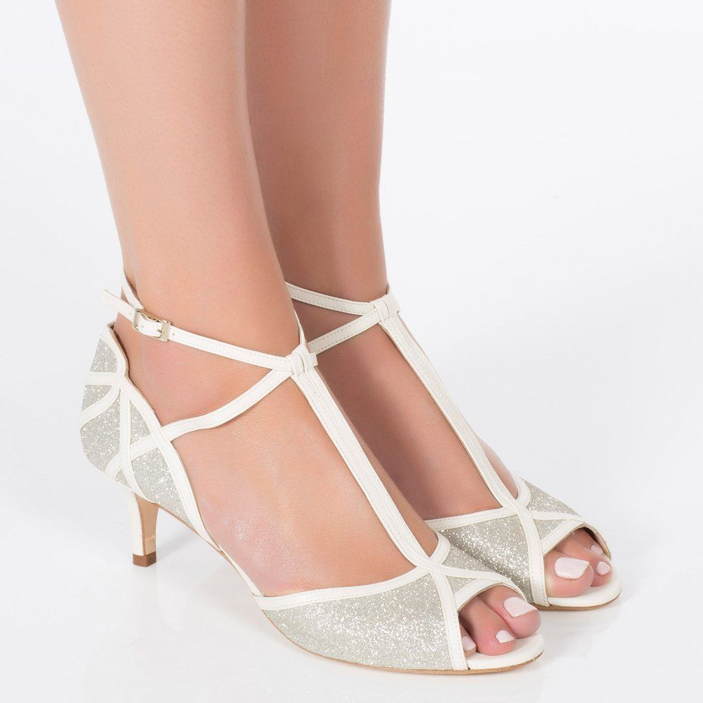ec341e0b3199 The perfect low heeled wedding shoe - this style has a vintage look with a T