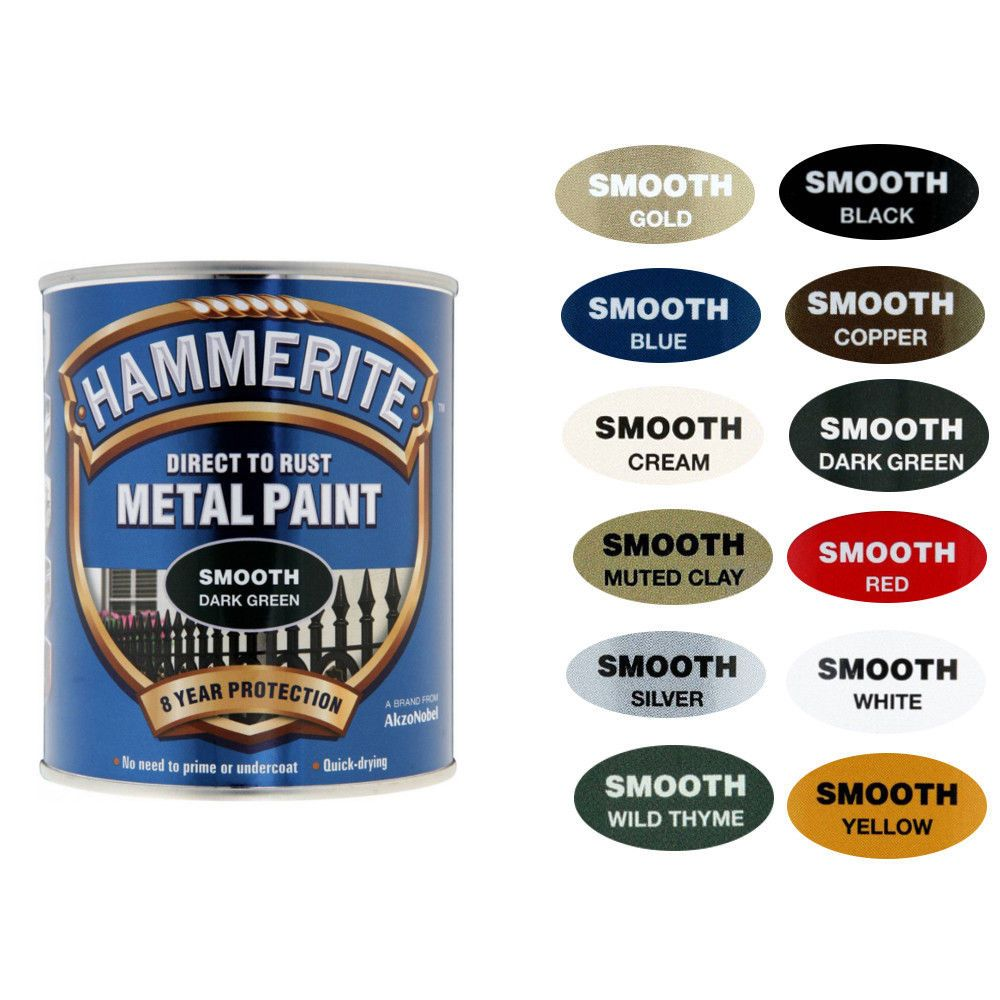 Hammerite Metal Paint Smooth With Wide