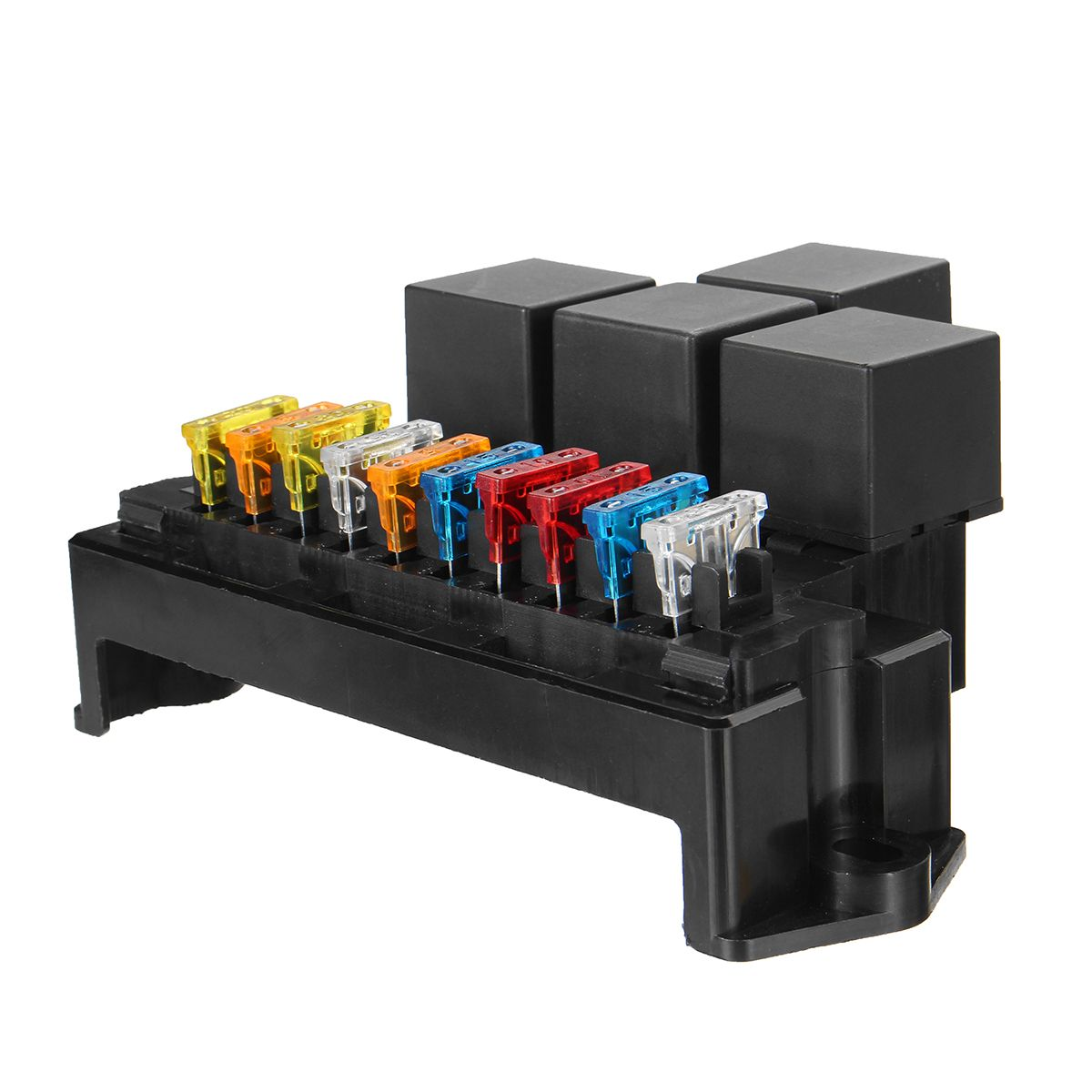 auto car boat 10 way circuit standard blade fuse box block holder set 12v 80a [ 1200 x 1200 Pixel ]