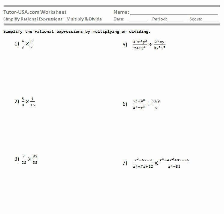 simplifying rational expressions worksheet doc