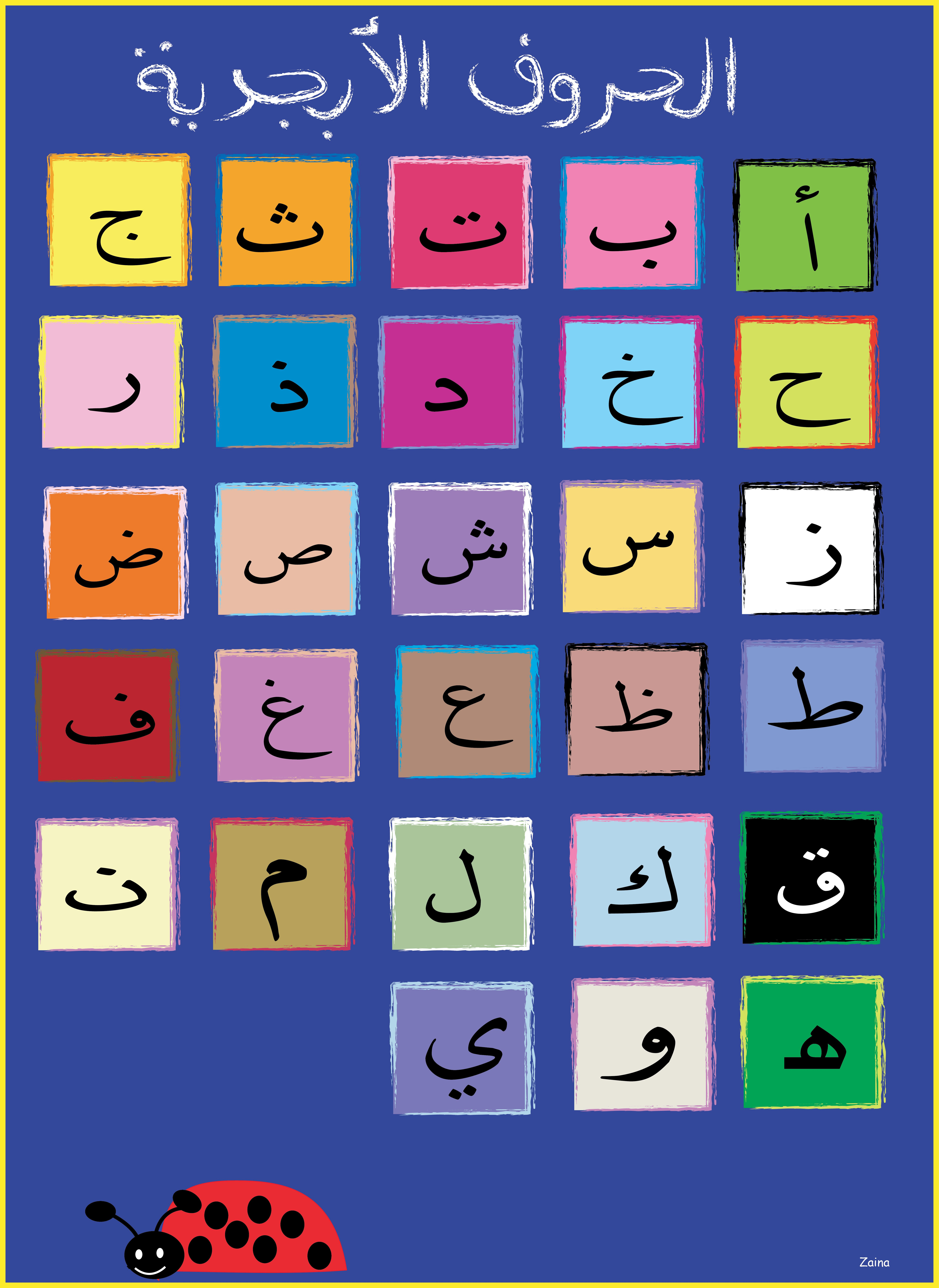 This Is Arabic Alphabets Poster