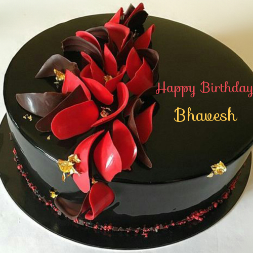 Remarkable Get Your Name On Black Current Chocolate Birthday Cake With Personalised Birthday Cards Petedlily Jamesorg