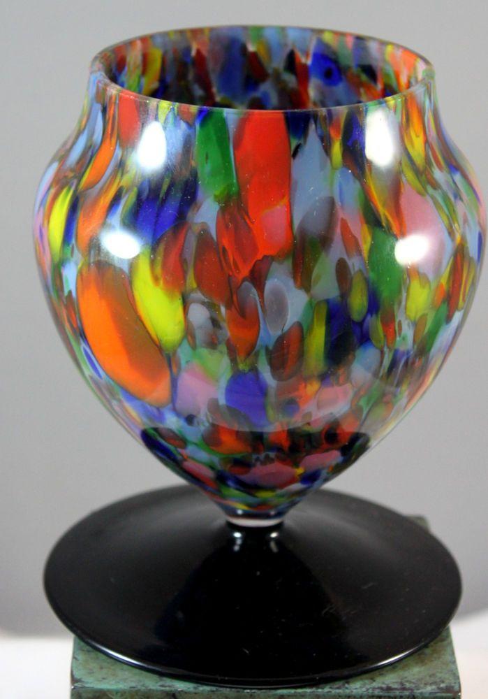 Millefiori Art Glass Vase Brandy Snifter Shape
