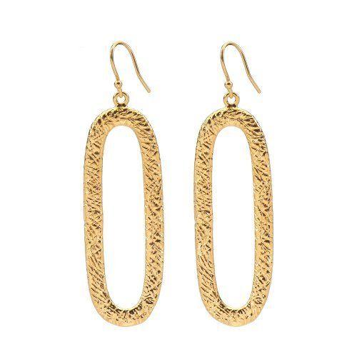 Marie Todd Alexa Gold Oval Hoop Earrings Marie Todd $100 00