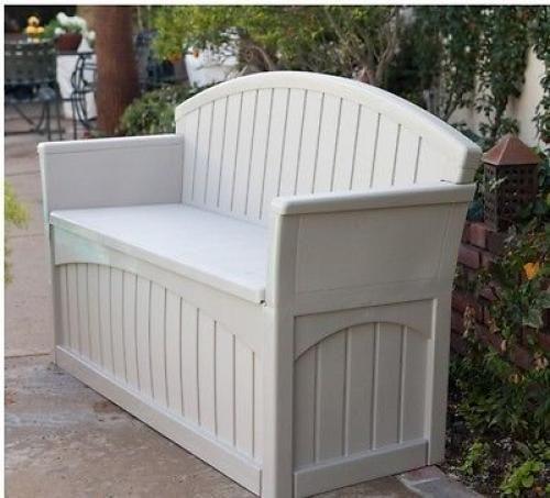 Outdoor Storage Bench Garden Pool Deck