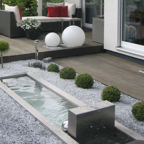 gartenbrunnen modernes design brunnen aus edelstahl | our dream home | garten, brunnen