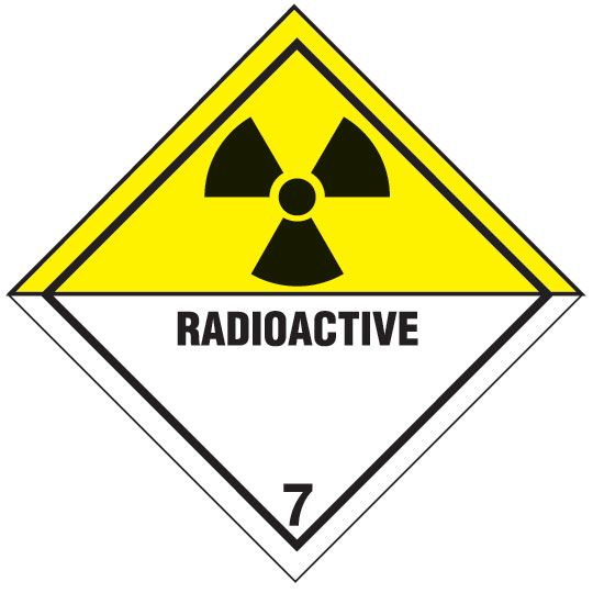 Radioactive 7 Diamond Label Safety Labels Charts And Guides