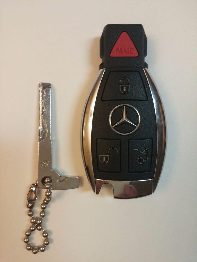 Mercedes Benz Key Fob 4 Button Keyless Remote Used (Cut Key) #MercedesBenz