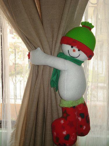 cortinero navideño adornos Pinterest Navidad, Adornos y Cortinas