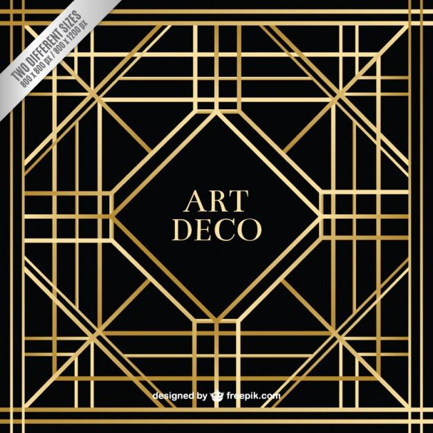 Geometric art deco background free vector gastby pinterest geometric art deco background free vector voltagebd Images