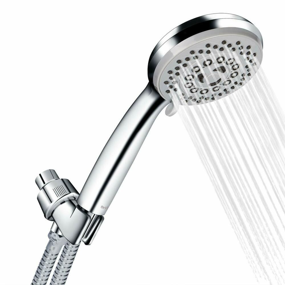 Handheld Shower Head With Hose High Pressure 5 Spray Settings