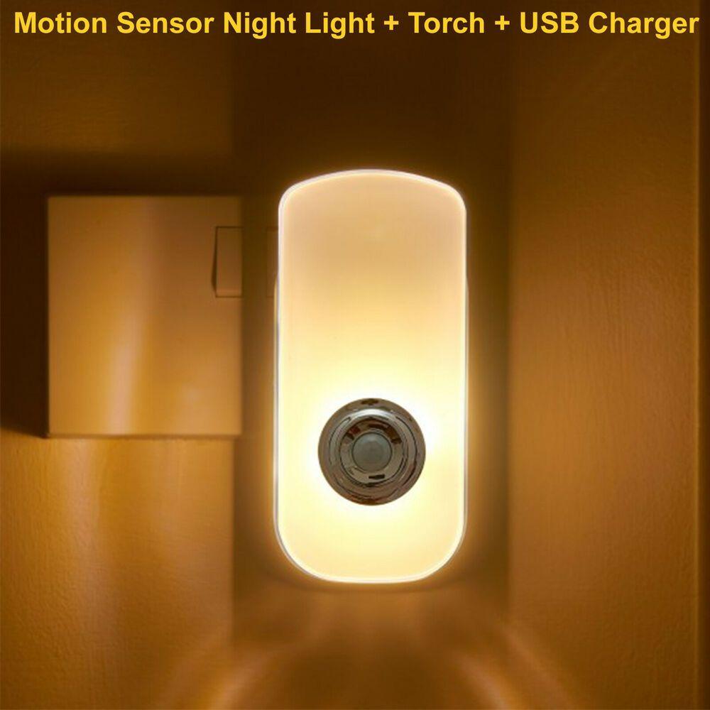 Motionsensor Nightlighttorch Usbsocketemergencylight Motion Sensor Night Light Torch Usb Socket Indoor Led Night Light Sensor Night Lights Night Light Lamp