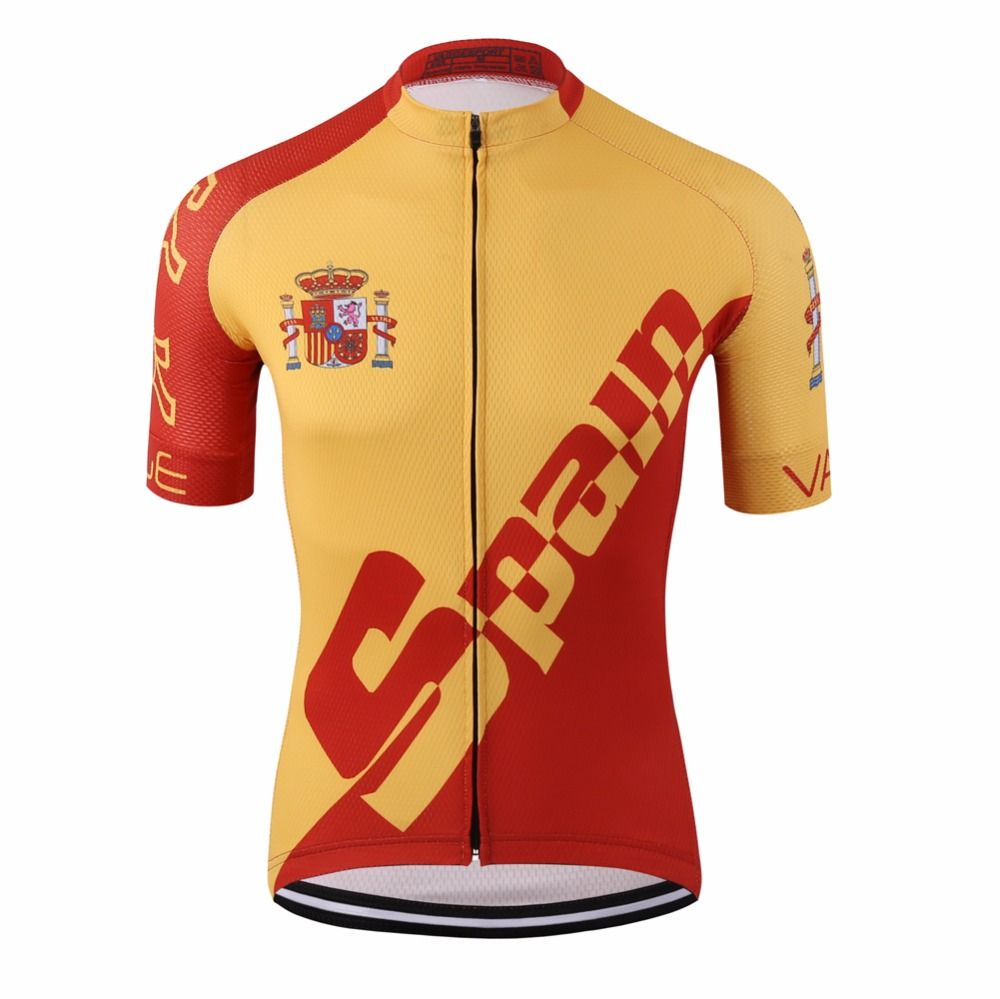 Clothing · Promo Pro tour spain red cycling jersey racing ciclismo ropa bike  ... 64fd3139e