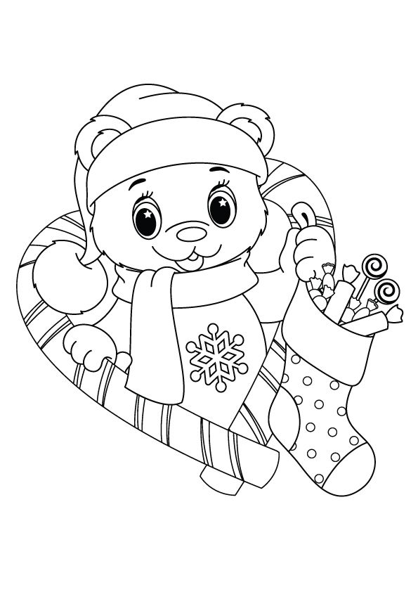 Christmas Stocking Coloring Pages Vector Images