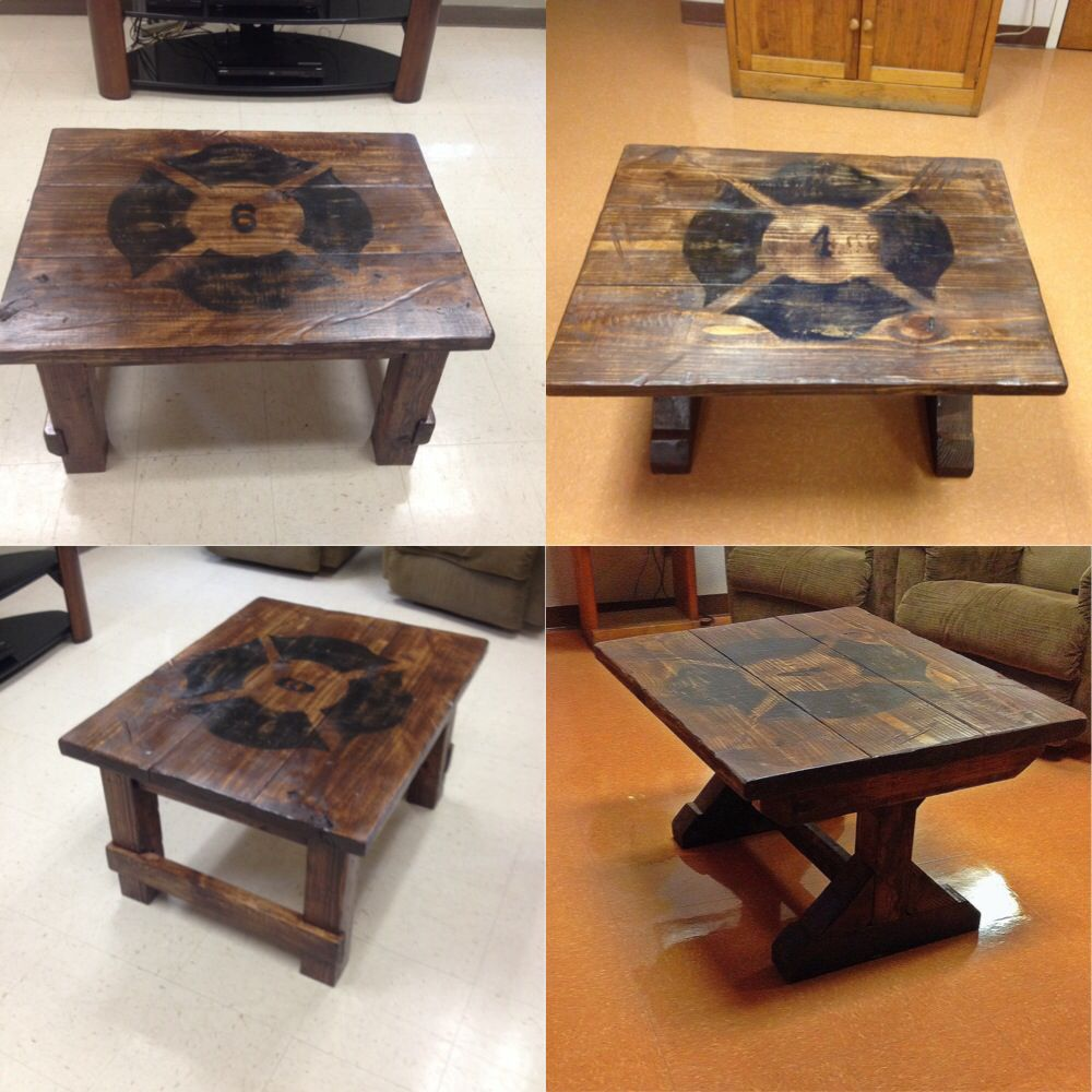 Station Coffee Tables Firefighter Home Decor