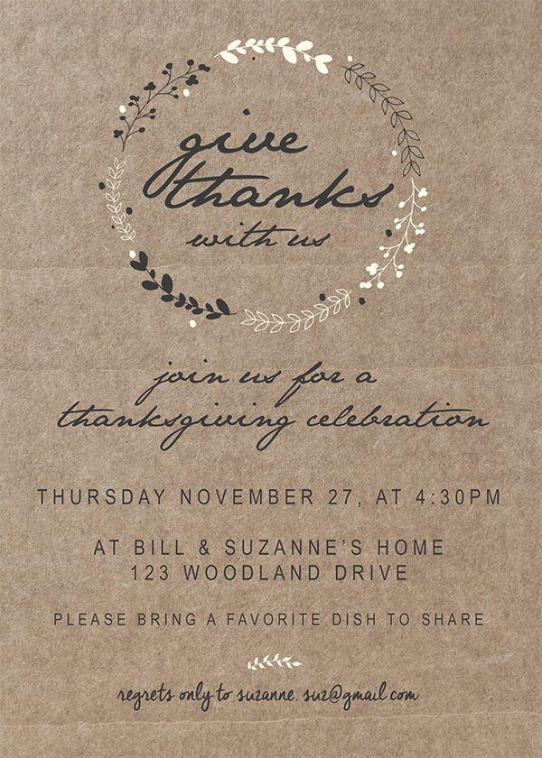 Printable Thanksgiving Invitation Thanksgiving invitation