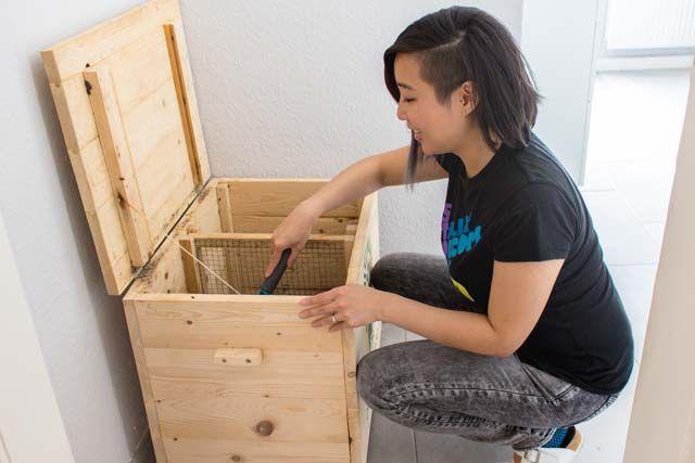 wurmkiste kompostieren in der stadtwohnung wohnen pinterest kompost nachhaltigkeit und. Black Bedroom Furniture Sets. Home Design Ideas
