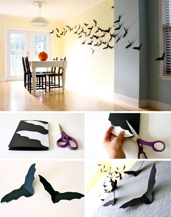 17 Absolutely Incredible Cheap Ideas for Halloween 7 Paper Bats