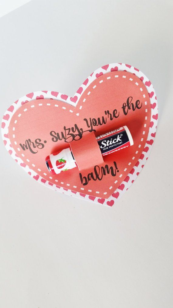 Photo of Teacher Valentines Day Gift, You're The Balm Valentine, Classroom Valentines, Lip Balm Valentines Day Card, Secretary Gift, Chapstick Gift