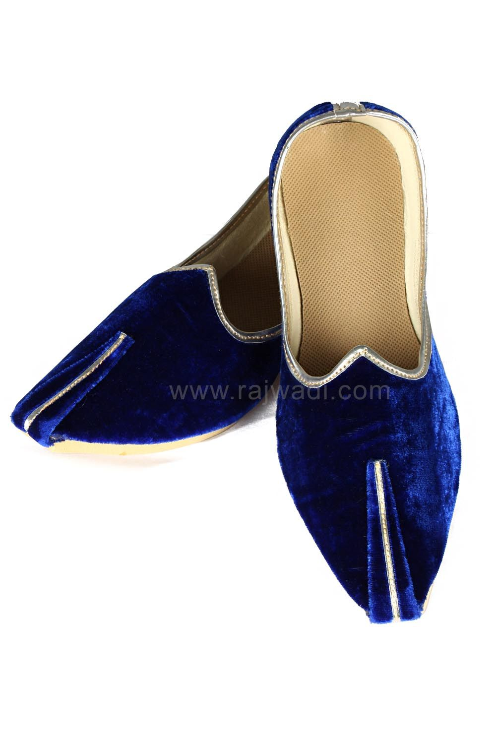 c61be5686538e Royal Blue color Velvet fabric Mojari  rajwadi  menaccessories  mensfashion   ethnicwear  mojaris  ethnicstyle