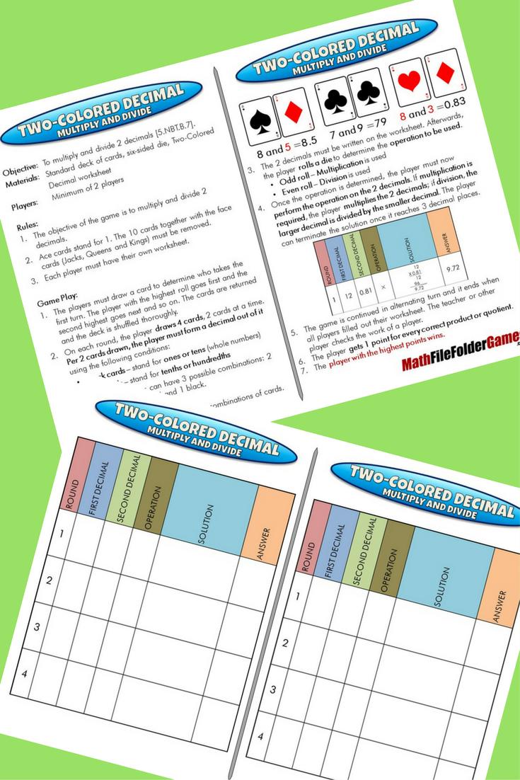 5th Grade File Folder Math Games Math Games Math Math Workshop Games [ 1102 x 735 Pixel ]