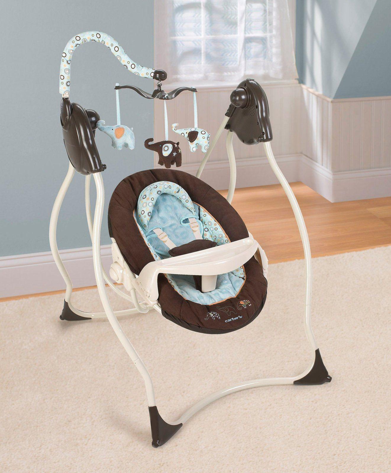 Carter S Cuddle Me Musical Swing Elephant Parade Elephant Baby Swing Baby Swings Baby Gallery