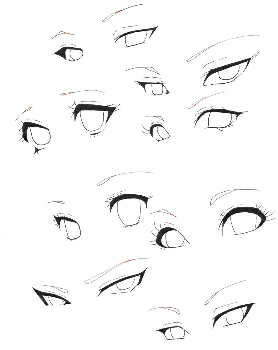 Anime Girl Base With Eyes : anime, Bocetos, Anime, Drawing,, Sketches,, Drawings, Sketches