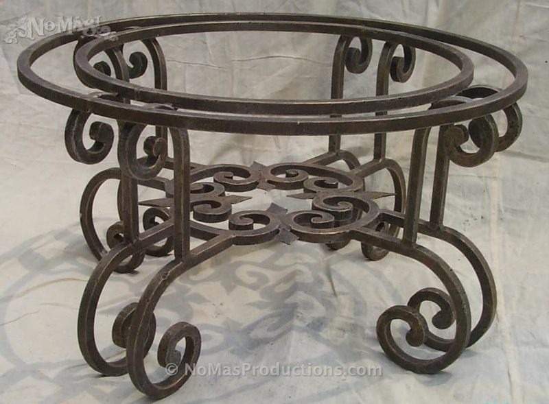 Wrought Iron Coffee Table Base No Mas Productions In 2019