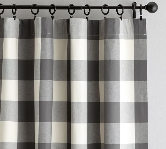 Buffalo Check Curtain Gray Buffalo Check Curtains Check Curtains Buffalo Plaid Curtains