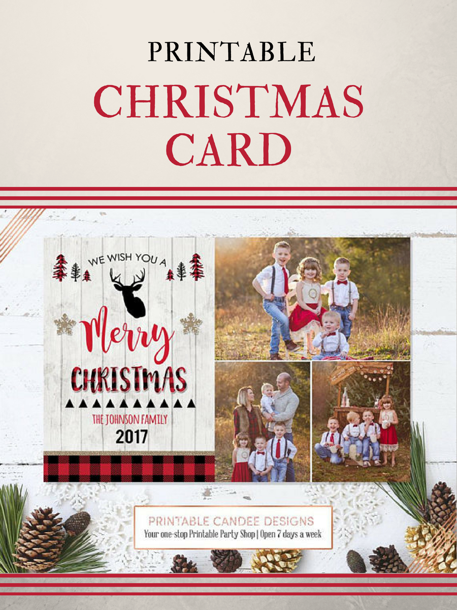 you can print your own christmas cards with your family photos this year great idea