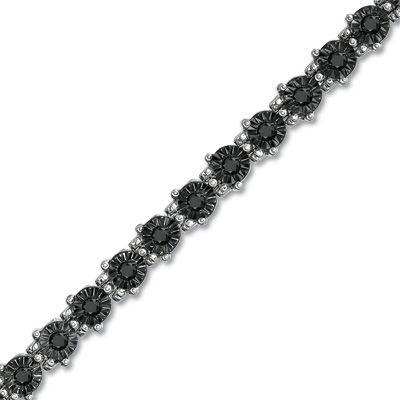 Zales 1/4 CT. T.w. Enhanced Black Diamond Tennis Bracelet in Sterling Silver gPGL6BqXA