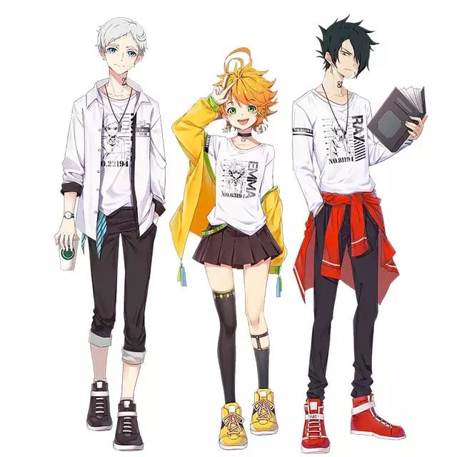 Photo of US $19.99 |Anime The Promised Neverland Phil Gilda Don Ray Norman Emma Cosplay Costume Printed T shirt Long Sleevel Shirt|Anime Costumes|   – AliExpress