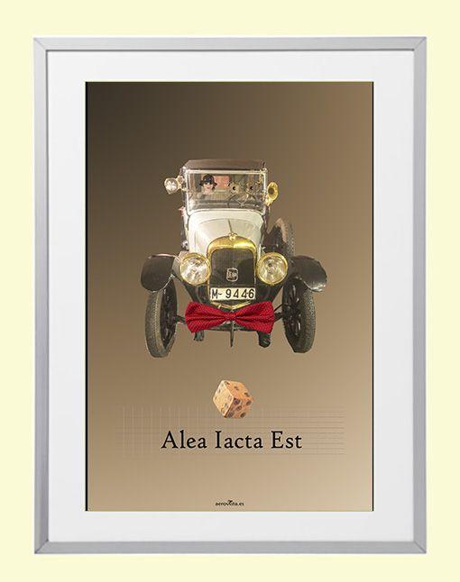 Alea Iacta Est. Lamina, cuadro poster en tamaño A3 para enmarcar ...