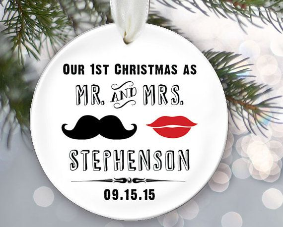 Our First Christmas as Mr  Mrs Ornament Personalized Christmas