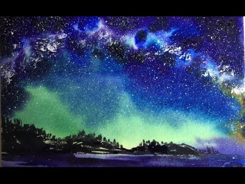 How To Paint A Galaxy With Watercolor A Nebula Universe