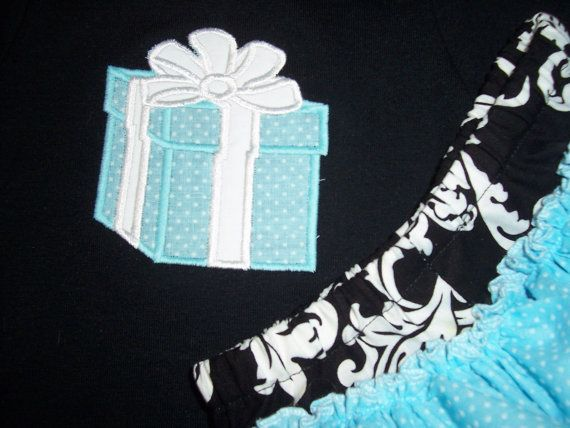 Breakfast at tiffanys inspired two piece ruffle bottom diaper breakfast at tiffanys inspired two piece ruffle bottom diaper cover set little blue gift box baby shower gift negle Images