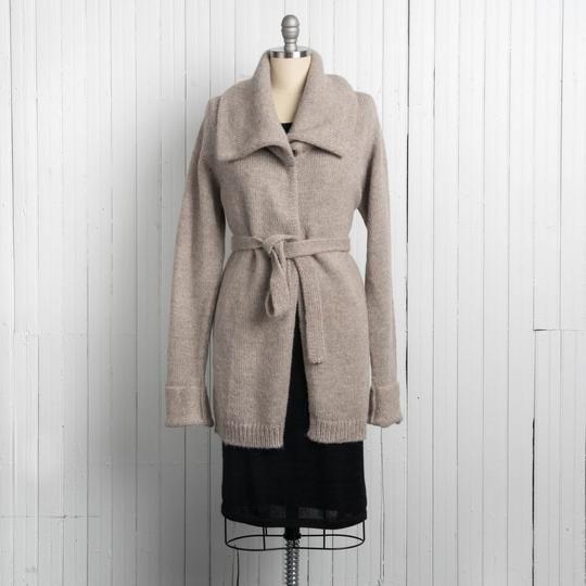 100% Baby Alpaca Sweater Jacket With 9-inch Oversized