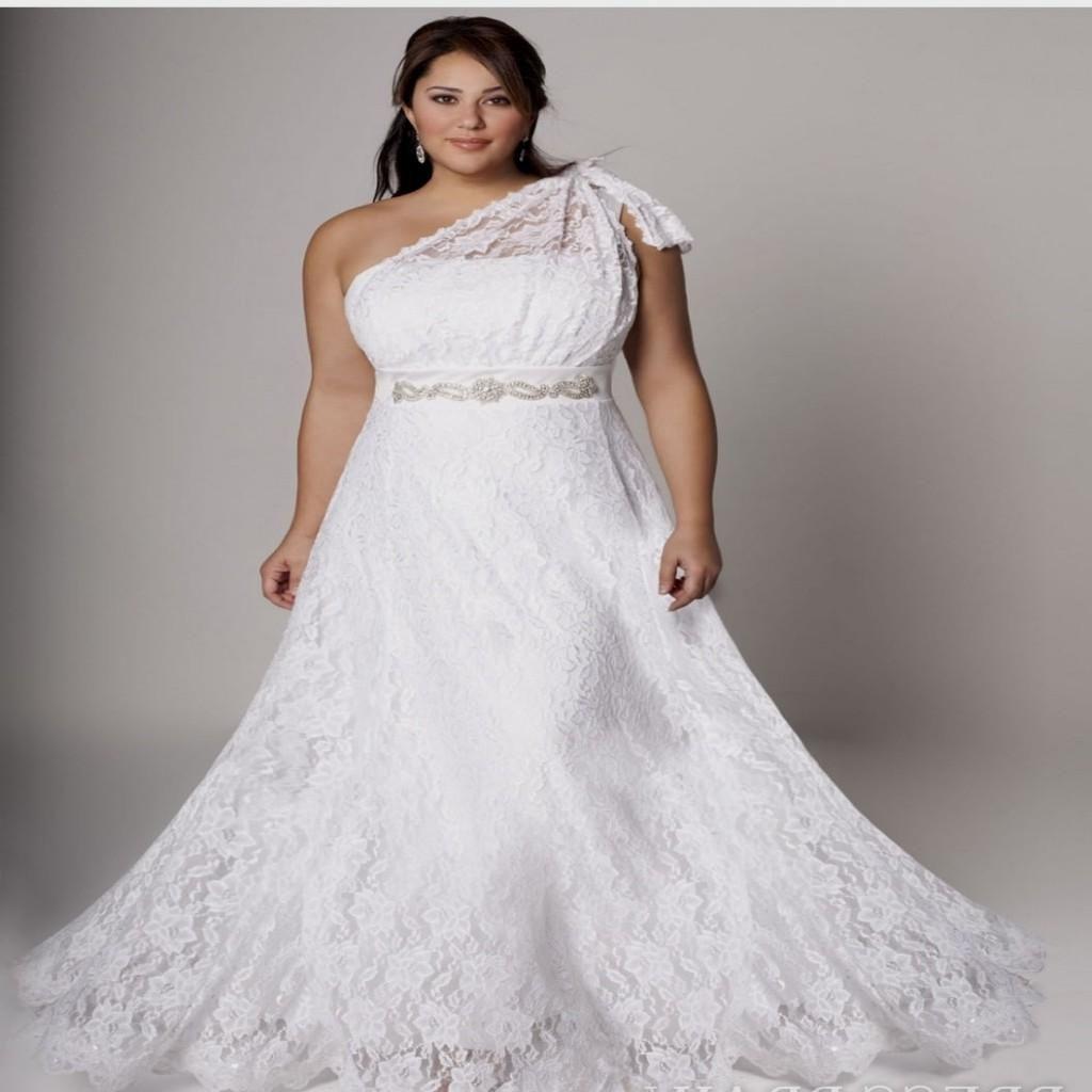 Plus size white wedding dress  Pin by jooana on wedding ideas for you  Pinterest  White wedding