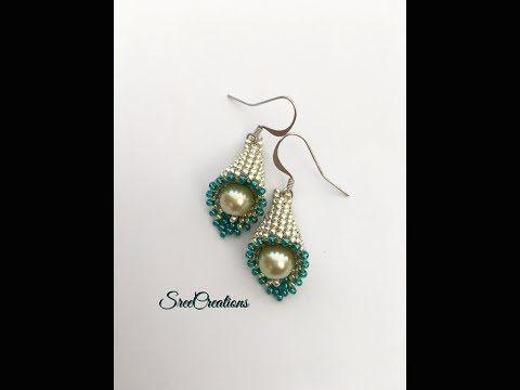 #Cute #beaded How to make Cute beaded Bell Earrings - YouTube