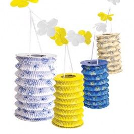Hang these floral patterned paper garlands around your garden and create a summer retreat. Great decoration for parties and don't forget to use our nylon lanterns to keep the atmosphere going for when the sun goes down…
