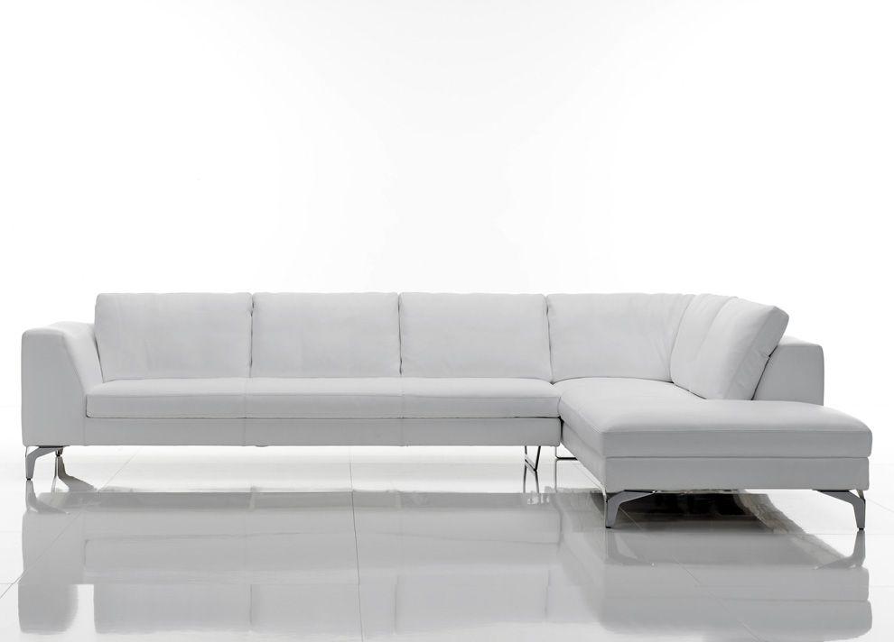 Cierre Glamour Leather Corner Sofa