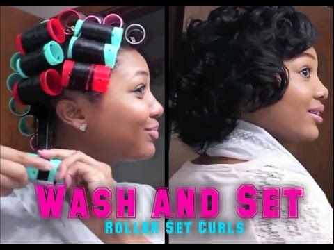 Updated Wash Set Roller Set Tutorial Roller Set Hairstyles Roller Set Natural Hair Relaxed Hair
