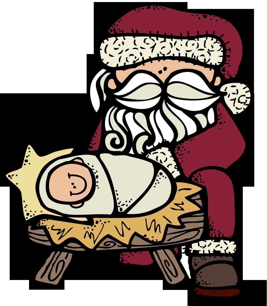 MelonHeadz: Santa and Jesus :) | Christmas | Pinterest | Santa ...
